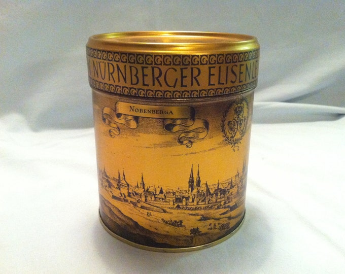 Vintage Nuremberg gingerbread tin can decoration