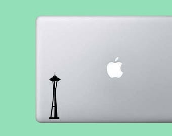 Seattle Space Needle Sticker Decal - Vinyl Decal Sticker - Laptop Decal - Wall Decor - City Sticker - Gift Seattle Sticker