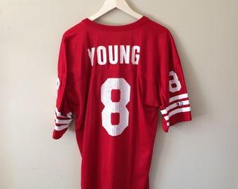 Vintage San Francisco 49ers Steve Young Jersey
