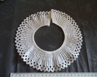 superb quality white cotton fabric collar