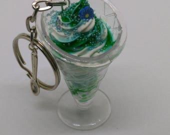 Keychain blue Sundae
