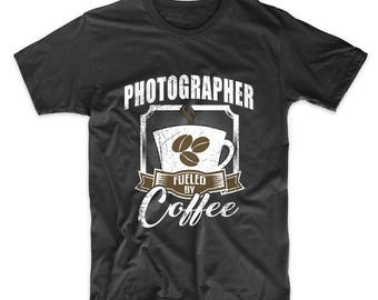 Photographer Fueled By Coffee Funny T-Shirt