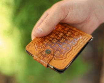 leather money clip wallet, Leather handmade wallet, handmade money clip, Leather handmade money clip, Leather western wallet