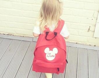 Disney backpack, personalised backpack, kids bag, backpack, children's bag, school bag, birthday present, sleepover bag, Disney fans
