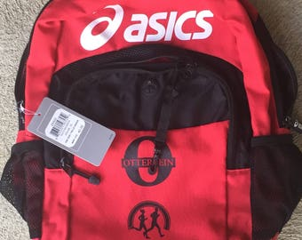 asics tiger backpack red