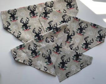 Tan Deer Over the Collar Bandana