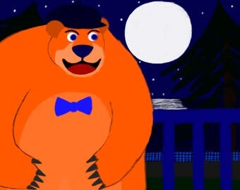Bear sees the moon