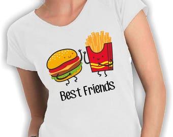 Best friends food Neck t shirt