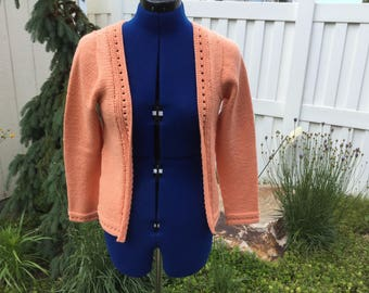 Peach wool spring jacket