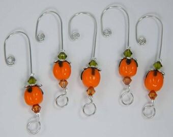 Pumpkin Ornament Hangers. Halloween Ornament. Autumn Ornament. Ornament Hangers. Pumpkins.