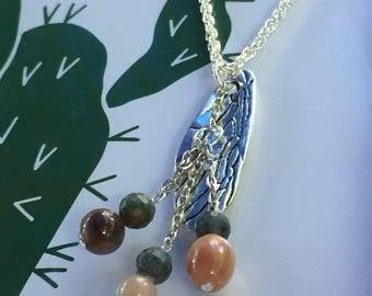 Cicada Wing Gemstone Necklace