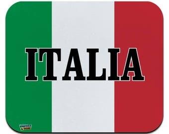 Italia italy italian flag low profile thin mouse pad mousepad