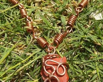 red jasper copper chain link