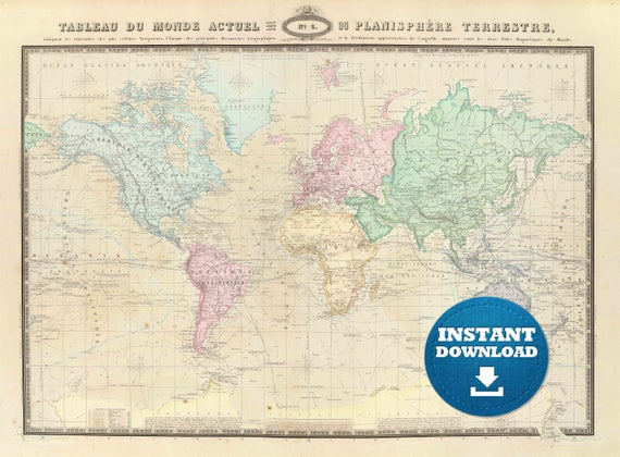 Digital old world map hight printable download vintage digital old world map hight printable download vintage world map printable map large world map high resolution world map postera gumiabroncs Images