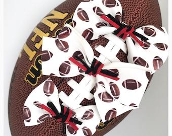 CUSTOM FOOTBALL faux leather bows - headbands - accessory