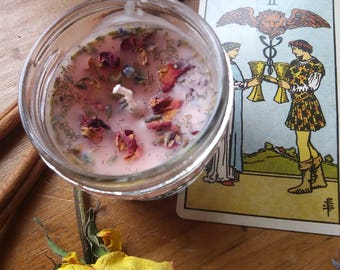 Love Spell Candle Love Draw Love Spell Beeswax and Herb Candle from The Cunning Toad (sold as curio)