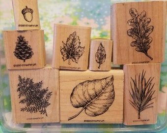 Stampin Up! 8pc Nature Stamp set 1998 RETIRED