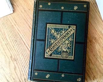 SOLD - Vintage book The Poetical Works of Alfred Tennyson Poet Laureate, gorgeous 1851 full edition with prizewinning Timbuctoo, illustrated