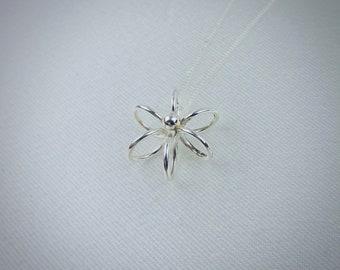 Sterling Silver Flower Pendant