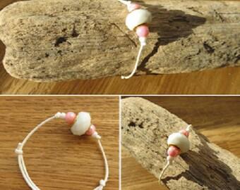 Waxed cotton bracelet 16250