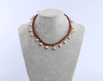 Fashion Pearl Choker,Leather Choker,Pearl Leather Necklace,Freshwater Pearl Jewelry Wedding Pearl Choker Necklace Gift For Bridal Bridesmaid
