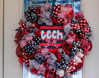 Texas Tech Wreath Cheer Red Raiders College Alumni