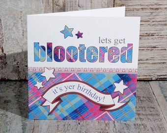 Greetings Card Blootered Birthday
