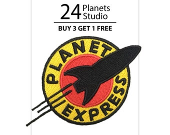 Rocket Planet Express Iron on Patch by 24PlanetsStudio