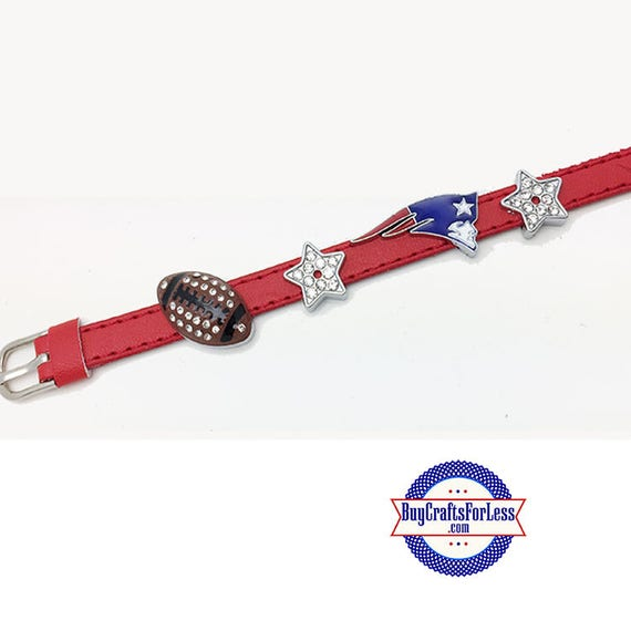 NEW ENGLAND Custom Bracelet, 8mm Letters, Charms +FREE Shipping & Discounts*