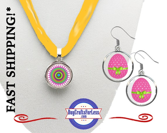 EASTER, SPRING Pendant or Earrings, 3 designs - Choose Pendant or Earrings +FREE Shipping & Discounts*