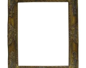 Antique gold open frame 16x20