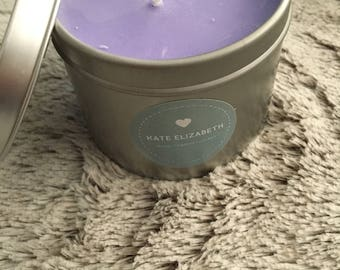 Soy Wax Purple Candle