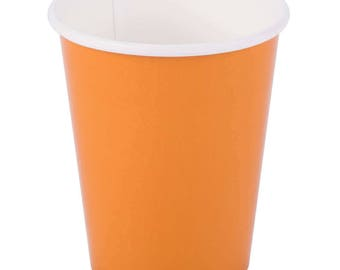 50 Ct Pumpkin Spice Poly Paper Cups 9oz Hot/Cold, Party Supplies, Wedding Supplies, Party, Wedding, Paper Cups, Beverage Cups, Cups, Fall