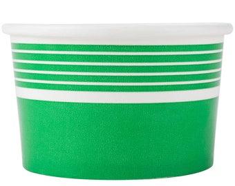 50PCS 8 oz Green Paper Ice Cream Cup, Frozen Yogurt Cup, Ice Cream Cup, Cups, Party Supplies, Ice Cream Supplies, Party, Party tableware