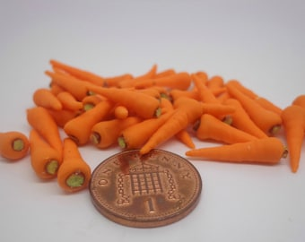 1:12 Scale Dolls House Miniature Pack Of 12 Carrots