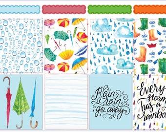 Rainy Days - Erin Condren Weekly Sticker Kits (EC)
