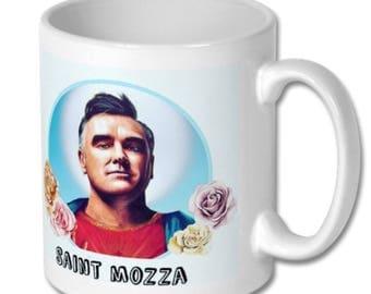 Morrissey Saint Mozza ceramic white mug. 325ml