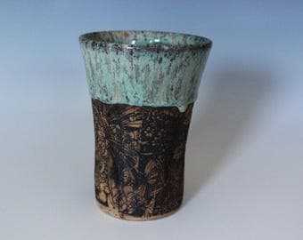 Teal Flower Child Tumbler