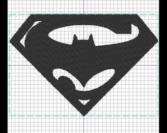 Pattern of embroidery SUPERMAN / BATMAN