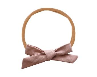 Linen Schoolgirl Bow /// Dusk