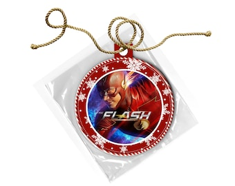 Flash Barry Allen Grant Gustin Christmas Ornament