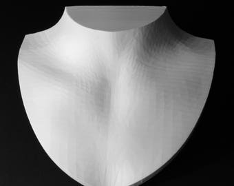 Necklace display bust, female bust