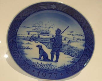 Royal Copenhagen Porcelain Christmas Plate 1977 Immervad Bridge