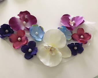 Customisation 27 * 9 cm multicolored flowers bib