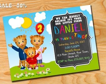 Daniel Tiger Invitation, Daniel Tiger, Daniel Tiger Invite, Daniel Tiger birthday party, Daniel Tiger birthday