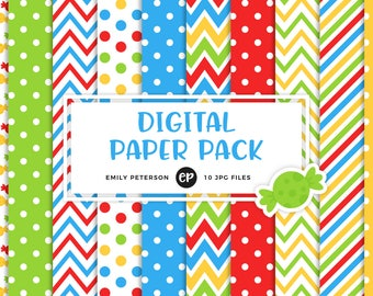 50% OFF SALE! Candy Digital Paper, Candies Background Paper - Commercial Use, Instant Download - V1