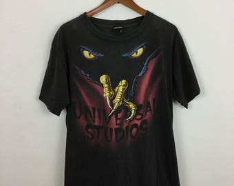 Vintage 90s Universal Studio Florida Halloween Horror Night T Shirt Size L