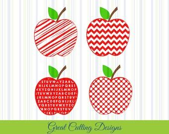 apple SVG Cut File teacher svg DXF cut file Cricut svg Silhouette svg Vinyl Cut File Digital cut file Cricut cut file back to school svg