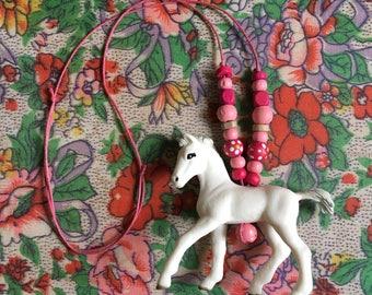 White Prancing Pony