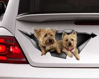 Cairn Terrier car decal ,  Vinyl decal, dogs sticker, funny  decal, pet decal